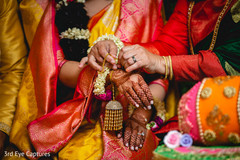 Capture of a moment of the Indian wedding rituals