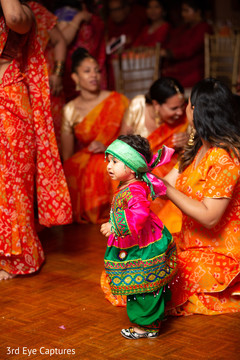 Heartwarming capture of little guest during the sangeet