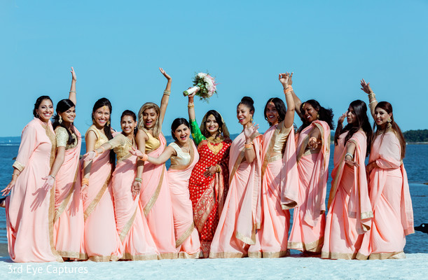 indian wedding,indian bride,maharani,bridesmaids