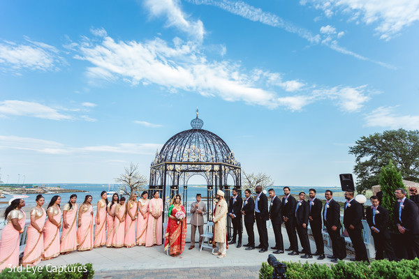 indian wedding,maharani,groomsmen,mandap