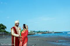 Amazing capture of maharani and raja at the seashore