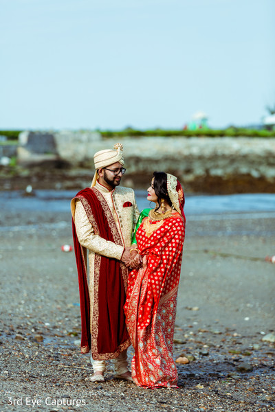 Enchanting outdoor Indian  wedding photo shoot.