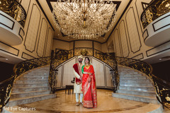 Incredible portrait of Indian couple at the delightful venue