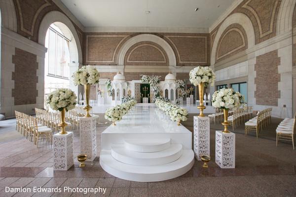 indian wedding,decor,venue,floral arrangement