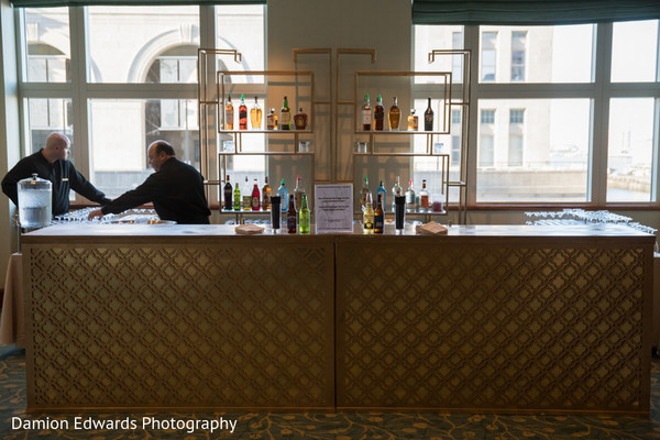 Overview of the bar at the Indian wedding reception