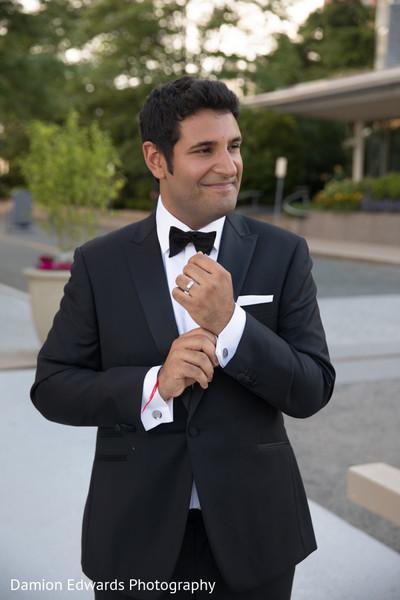 Elegant raja wearing a tuxedo