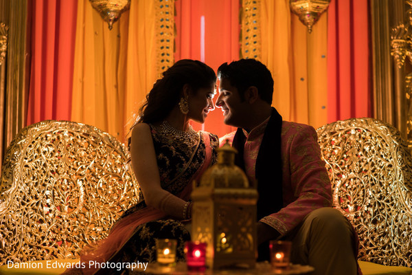 Romantic moment between the maharani and raja during the reception