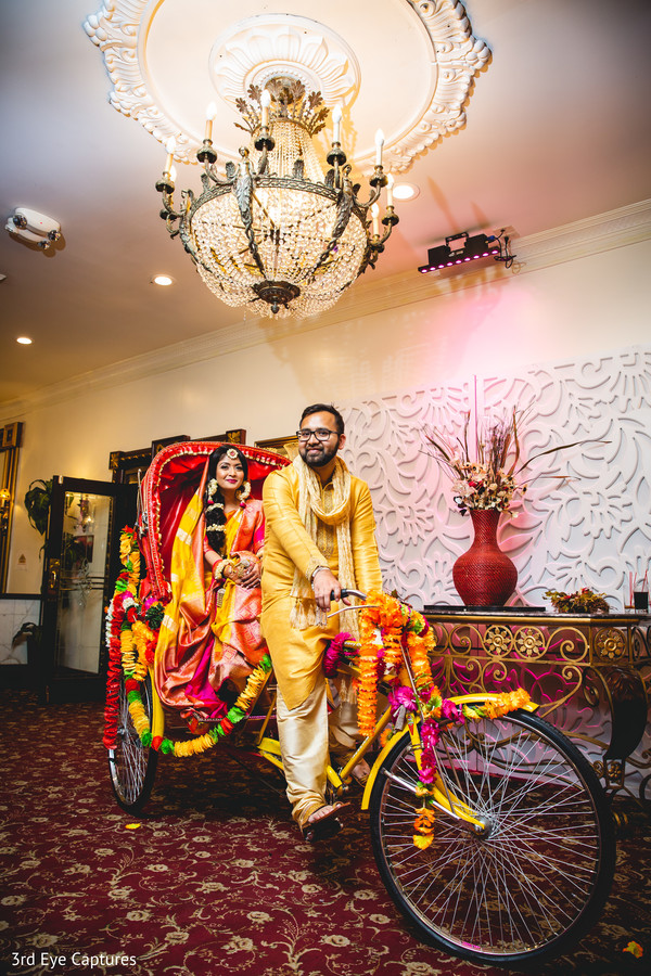 Raja riding the colorful ride with the maharani