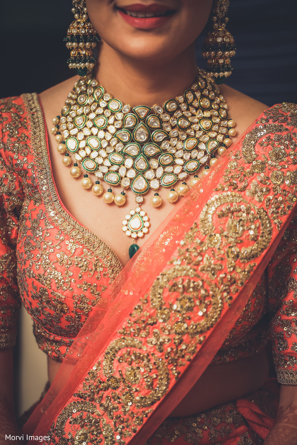 Indian bridal Polki necklace choker.