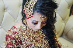 Dazzling Indian bride hair style