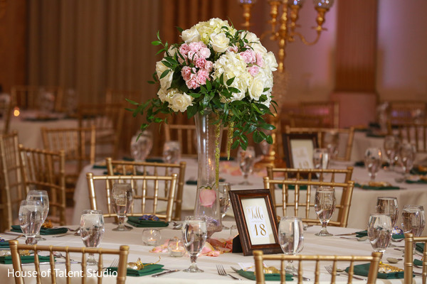 indian wedding,venue,table,floral
