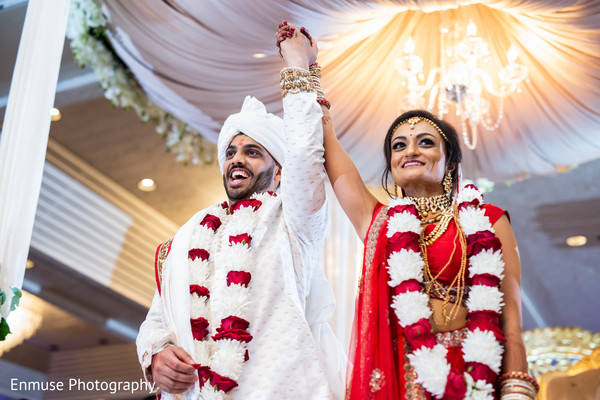 See this joyful Indian bride and groom capture.