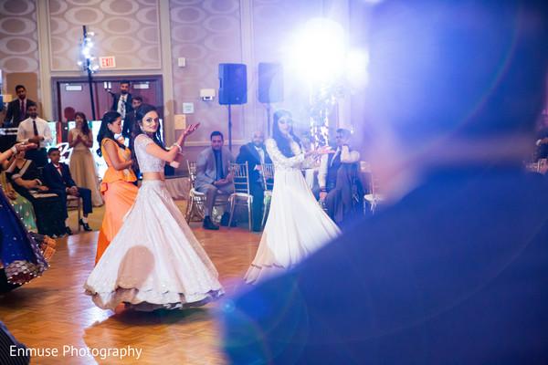 indian wedding reception dance,indian bridesmaids,indian bride