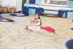 Indian kid guest performs during the sangeet