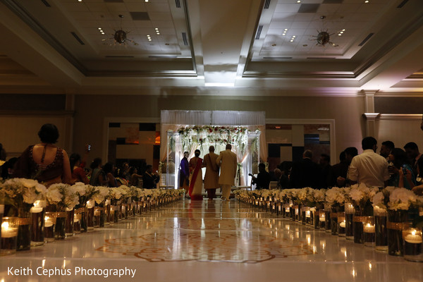 Overview of the Indian wedding ceremony venue