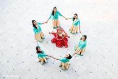 Maharani and her bridesmaids outdoors