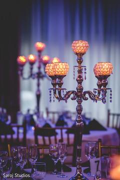 Delightful Indian wedding reception table decor.