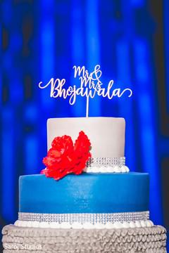 Indian wedding cake topper.