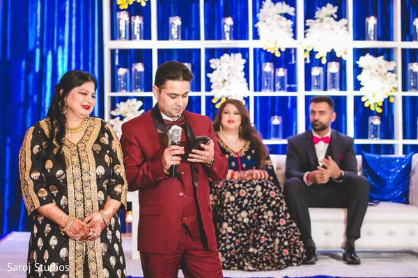 Indian bridal parents speech moment.