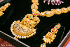 Marvelous Indian bridal earrings and Polki necklace choker.