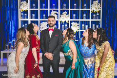 Amazing Indian groom and bridesmaids photo idea.
