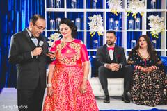 Indian wedding reception speech capture.