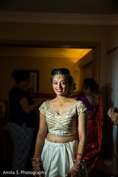 "Capture of gorgeous maharani as she gets ready to say ""I do"""