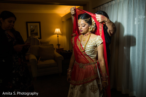 Indian bride's wedding lengha