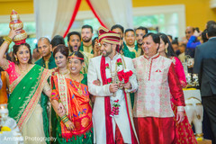 Lovely capture of the raja and family during baraat
