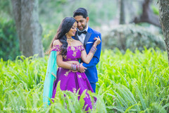 Indian lovebirds posing for photo shoot