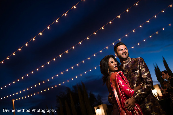 Dreamy Indian bride and groom photography.