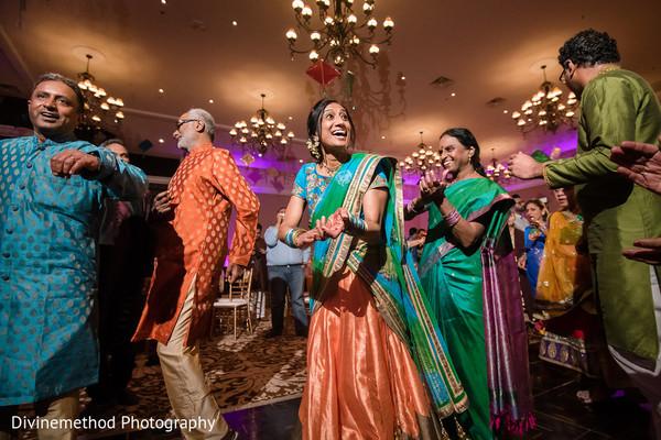 Beautiful Indian sangeet celebration guests capture.