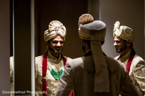 Indian groom's wedding outfit