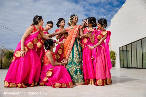 indian wedding,maharani,bridesmaids,outdoors