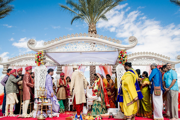 indian wedding,mandap,outdoors,guests