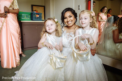 Lovely flower girls with Indian bride.