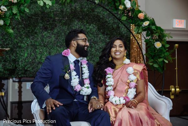 indian bride,indian groom,indian wedding reception,indian wedding ritual,garland