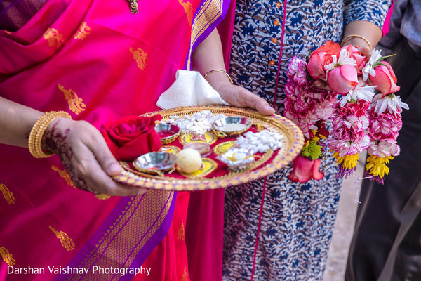 Details of the Indian wedding sacred objects
