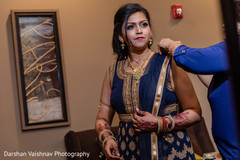 Stunning maharani getting ready with her blue lengha