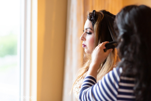 Indian bride capture as she prepares for the big day