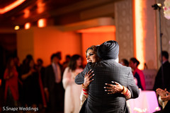 Maharani hugs a special guest at the reception venue