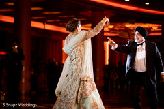 Indian bride reception lengha details