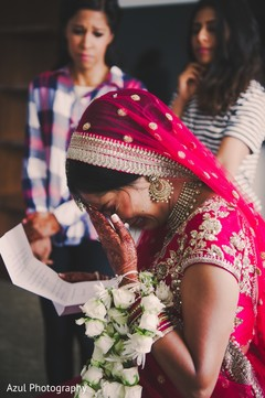 Indian bride special moment capture.