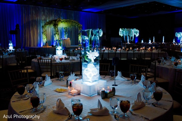 indian wedding reception,table decor,floral decor,lights decor