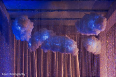 Magnificent Indian wedding lightning clouds decoration.