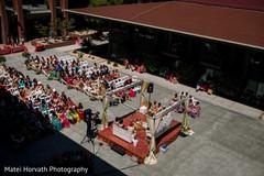 Stunning Indian ceremony setup capture.