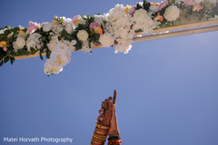 Dreamy Indian wedding mandap flowers decoration.