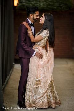 Heartwarming Indian bride and groom capture.