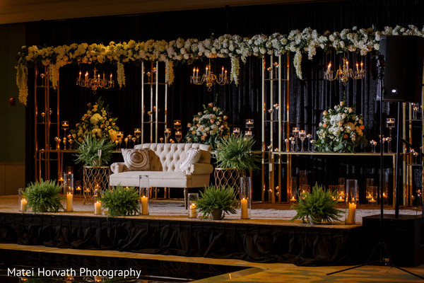 indian wedding reception,stage,indian wedding reception decor,flowers