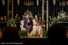 Indian newlyweds at their reception stage.